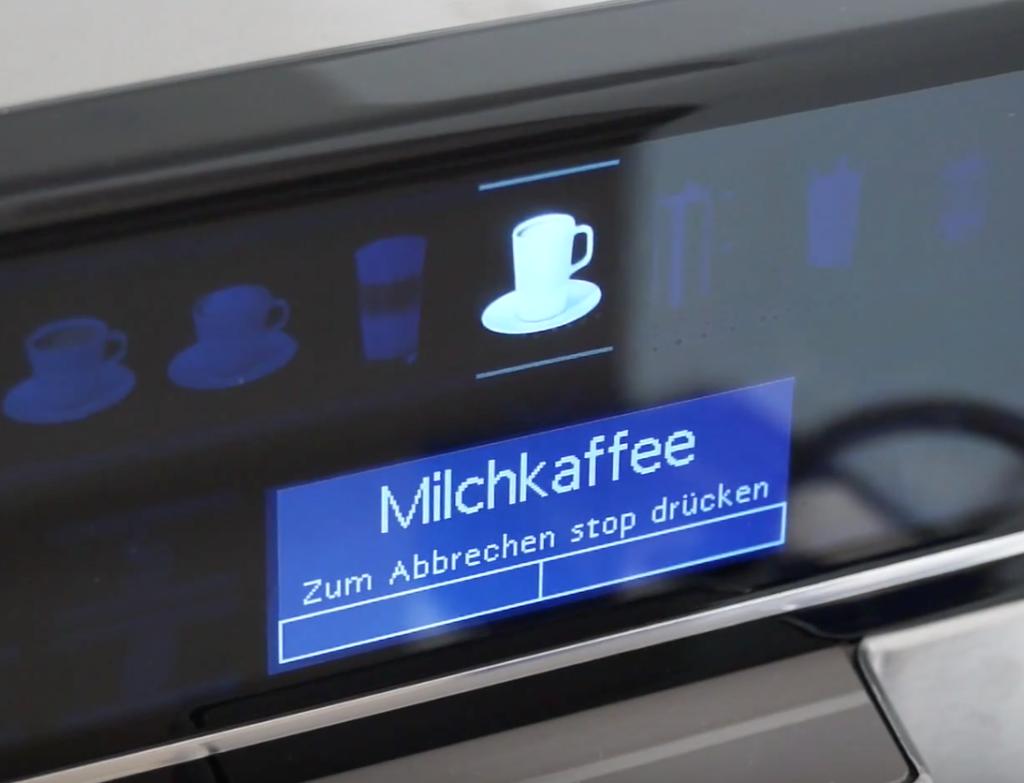 Siemens EQ.6 - Milchsystem reinigen mit Milk Clean