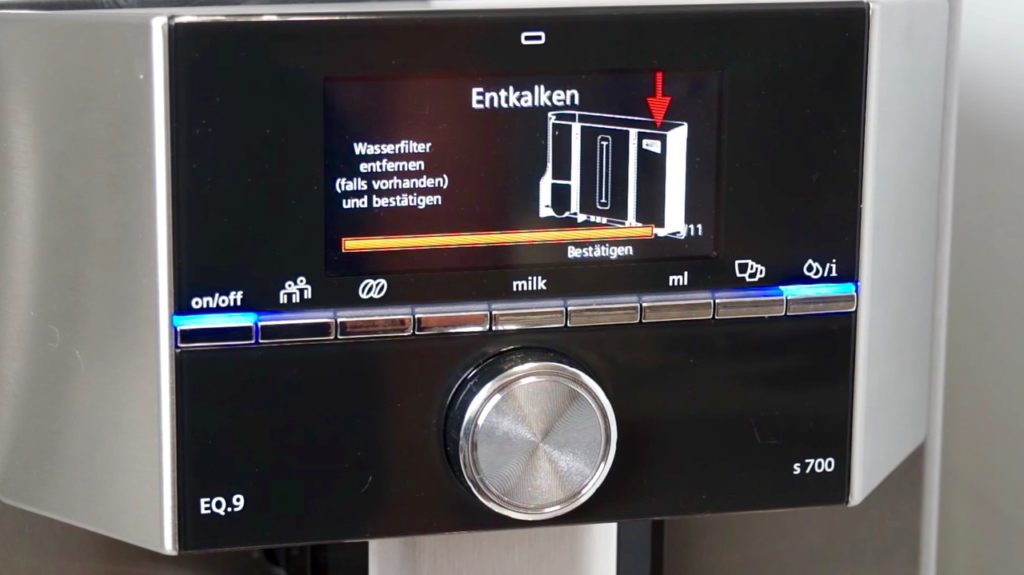 Siemens EQ.9 s700 - Entkalken