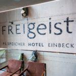 Wand aus Sichtbeton im Hotel FREIgeist Einbeck PS.SPEICHER
